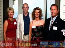 Group Photo of: June Wolfe, Kevin Gale, Paula Haiko and Michael Corbit.From Left to right: June Wolfe, President or South Florida Manufacturers Association, Kevin Gale, Editor of South Florida Business Journal, Paula Haiko and Michael Corbit Executive Director of the Internet coast.