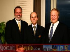 Jim Tarlton, Jacques Roy and Bernhard Schutte.From Left to right: Jim Tarlton, President & CEO of the Broward Alliance, Jacques Roy, General Manager of The Atlantic Hotel, and Bernhard Schutte, CEO of Digital Media Network (DMNI)